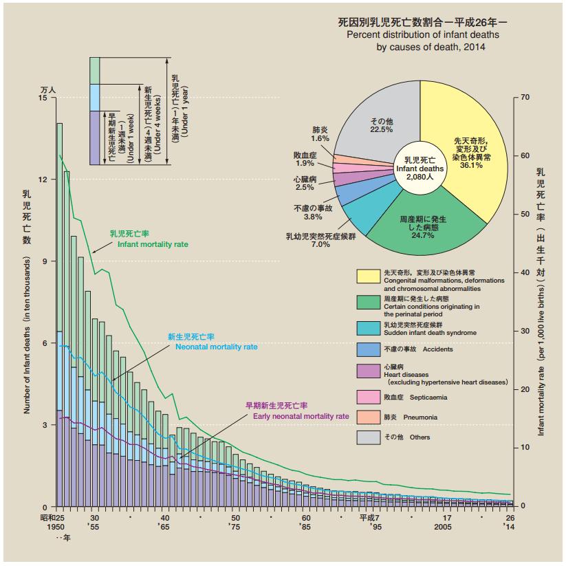 乳児死亡数及び乳児死亡率の年次推移