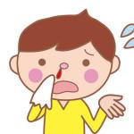 鼻血が出ている男の子