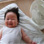 赤ちゃんの暑さ対策に扇風機