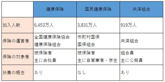 日本の医療保険の内訳