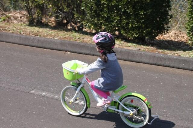 補助輪無しで自転車に乗る練習